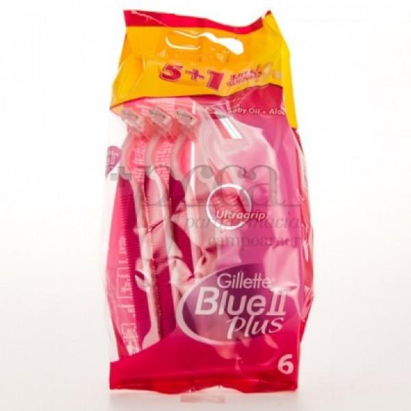 GILLETTE BLUE II PLUS MOISTURE RICH 5+1U