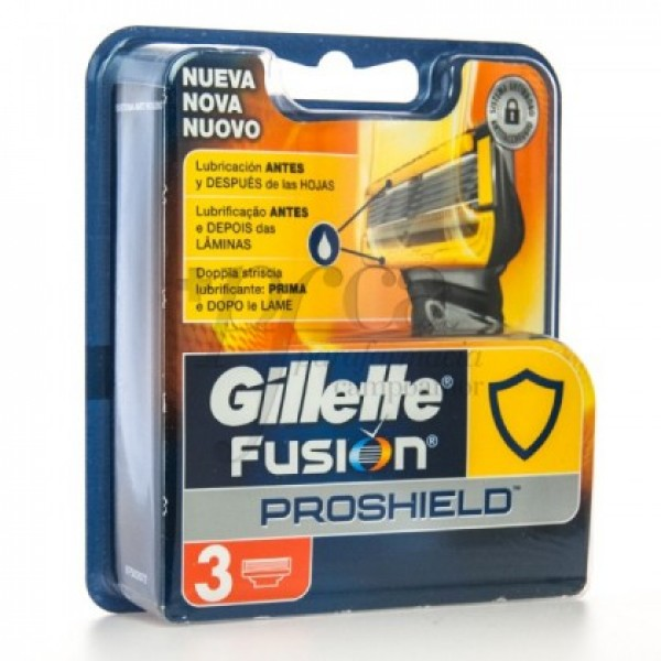 Gillette  Fusion  Proshield  recambio  3 u.