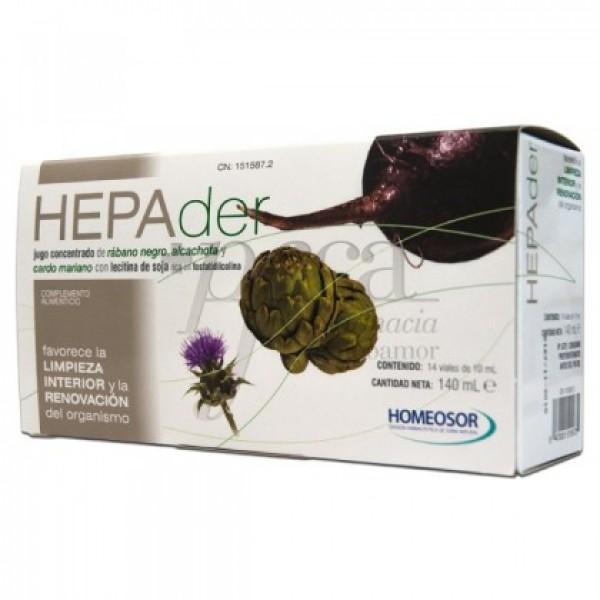HEPADER 10 ML 14 VIALES