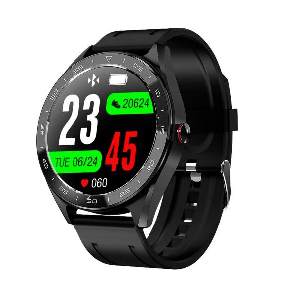 Dcu negro reloj inteligente full touch smartwatch frecuencia cardíaca multideporte sueño