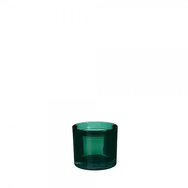 Portavelas decorativo kenny cristal verde ø9x8cm